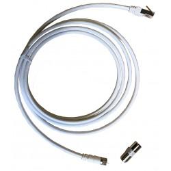 Cordon de terminaison TV - Connecteur F mâle - 2,5 m