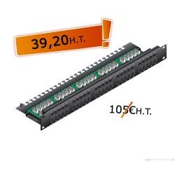 "Bandeau 19"" 60 ports TeL. (3-6/4-5)"